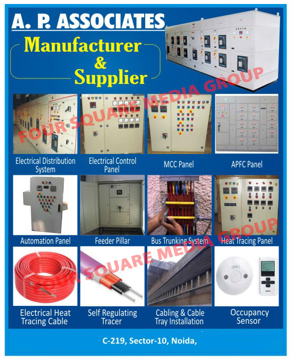 Electrical Distribution Systems, Electrical Control Panels, MCC Panels, APFC Panels, Automation Panels, Feeder Pillars, Bus Trunking Systems, Heat Tracing Panels, Electrical Heat Tracing Cables, Self Regulating Tracers, Cabling Tray Installation Services, Cable Tray Installation Services, Occupancy Sensors