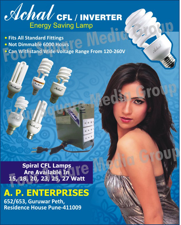 Energy Saving Lamps, Spiral CFL Lamps, Inverters