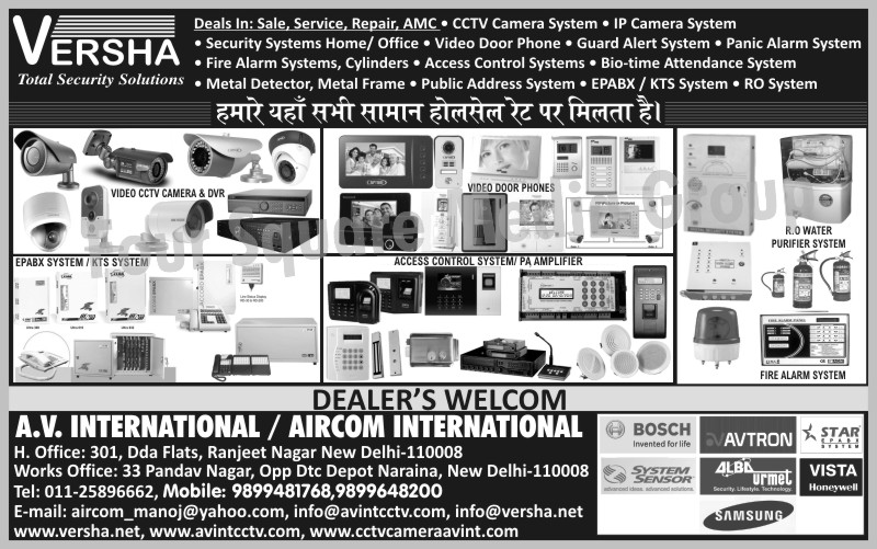 CCTV Cameras, IP Cameras, Security Systems, Video Door Phones, Guard Alert Systems, Panic Alarm Systems, Fire Alarm Systems, Fire Alarm Cylinders, Access Control Systems, Biometric Time Attendance Systems, Biometric Attendance Systems, Metal Detectors, Metal Frame, Public Address Systems, EPABX Systems, KTS Systems, RO Systems, Reverse Osmosis Systems, Video CCTV Cameras, DVR, Digital Video Recorders, PA Amplifiers, RO Water Purifier Systems, Reverse Osmosis Water Purifier Systems, Fire Safety Products