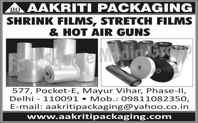 Shrink Films, Stretch Films, Hot Air Guns
