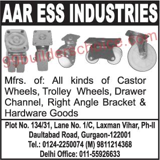 Castor Wheel, Trolley Wheels, Drawer Channel, Right Angle Bracket, Hardware Goods,