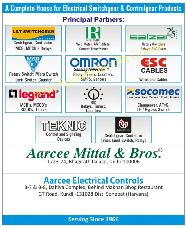 Electrical Products, Switchgears, Cutter Hammers, Cables