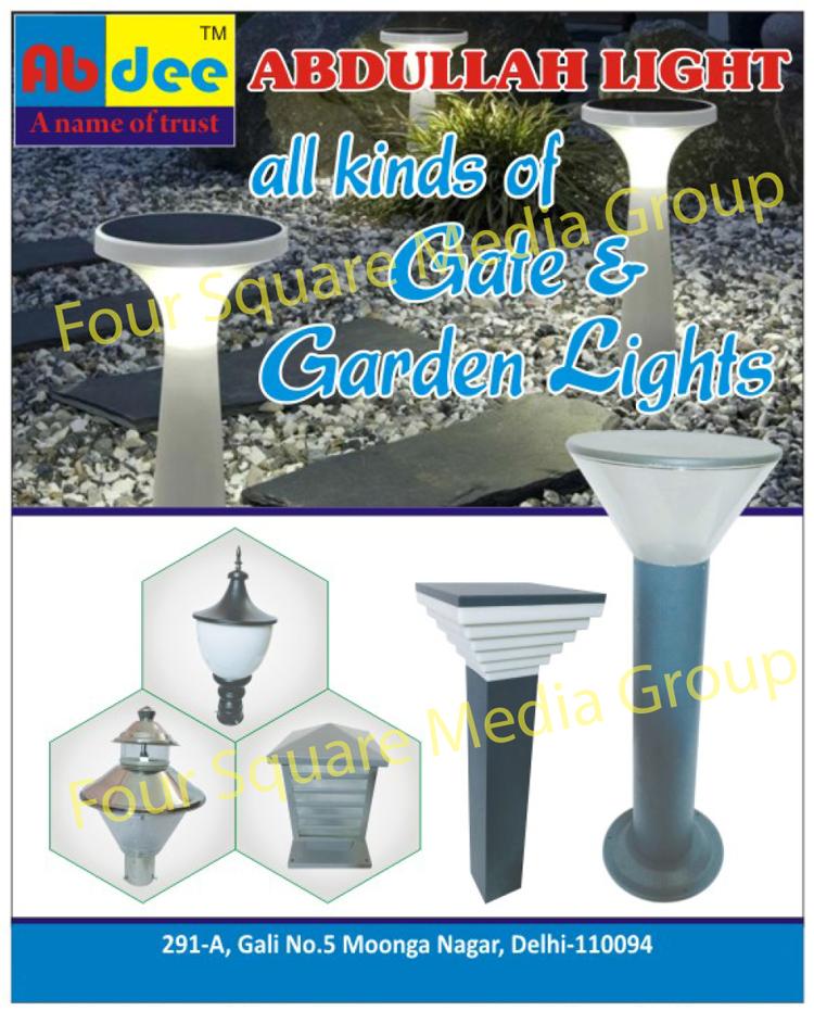 Gate Lights, Garden Lights, Wall Lights, Bollard Lights, Poll Lights, Mirror Lights, UP Lighters, Picture Lights, Porch Lights, Bulk Heads, Brick Lights, LED Lights