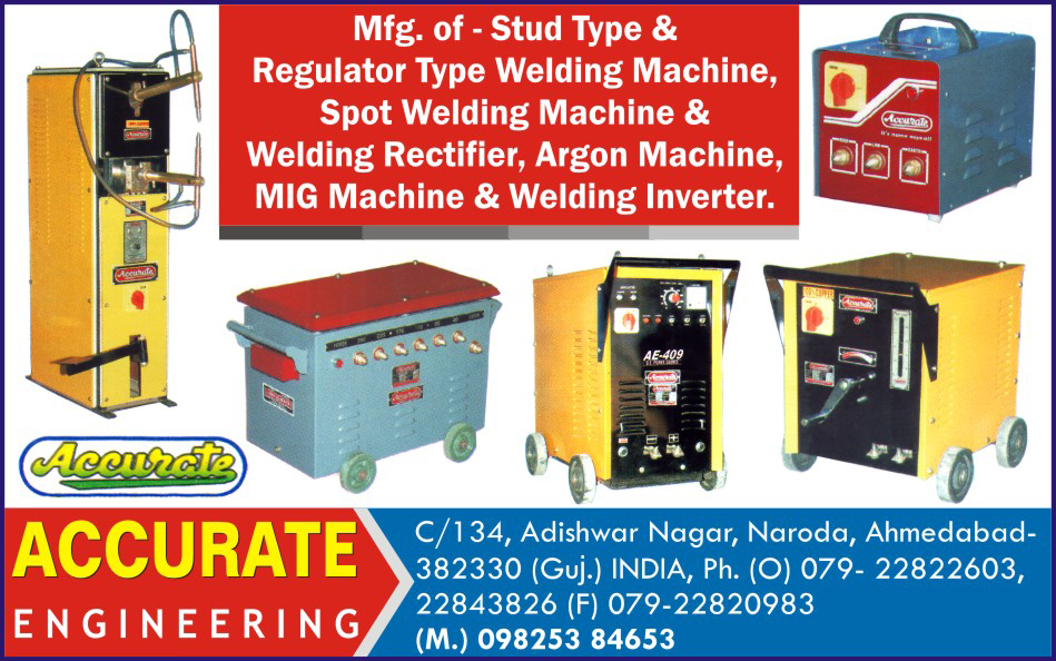 Stud Type Welding Machines, Regulator Type Welding Machines, Spot Welding Machines, Welding Rectifiers, Argon Machines, Mig Machines, Welding Inverter
