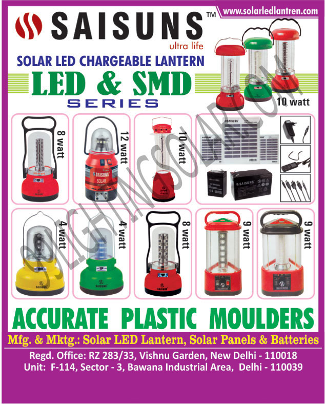Accurate Plastic Moulders, Exporter and Supplier of a wide variety of Solar Products