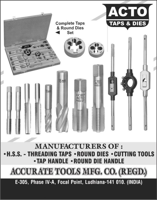 Round Die Sets, Complete Tap Sets, Threading Taps, Round Dies, Cutting Tools, Tap Handles, Round Die Handles, HSS,Round Dies