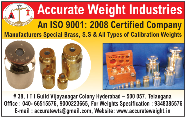 Calibration Weights, Brass Calibration Weights, Stainless Steel Calibration Weights