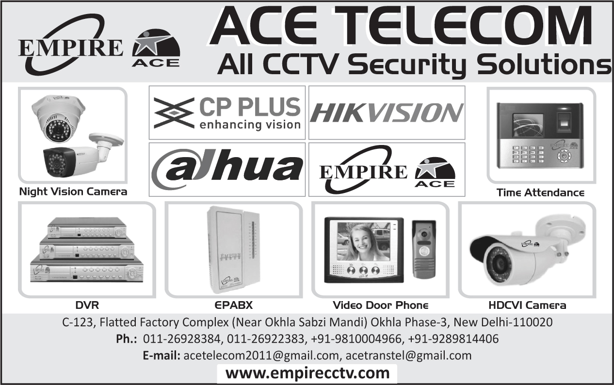 Cctv Security Solutions, Night Vision Camera, Time Attendance Machines, Dvr, EPABx, Video Door Phone, HDCVI Camera, Digital Video Recorders