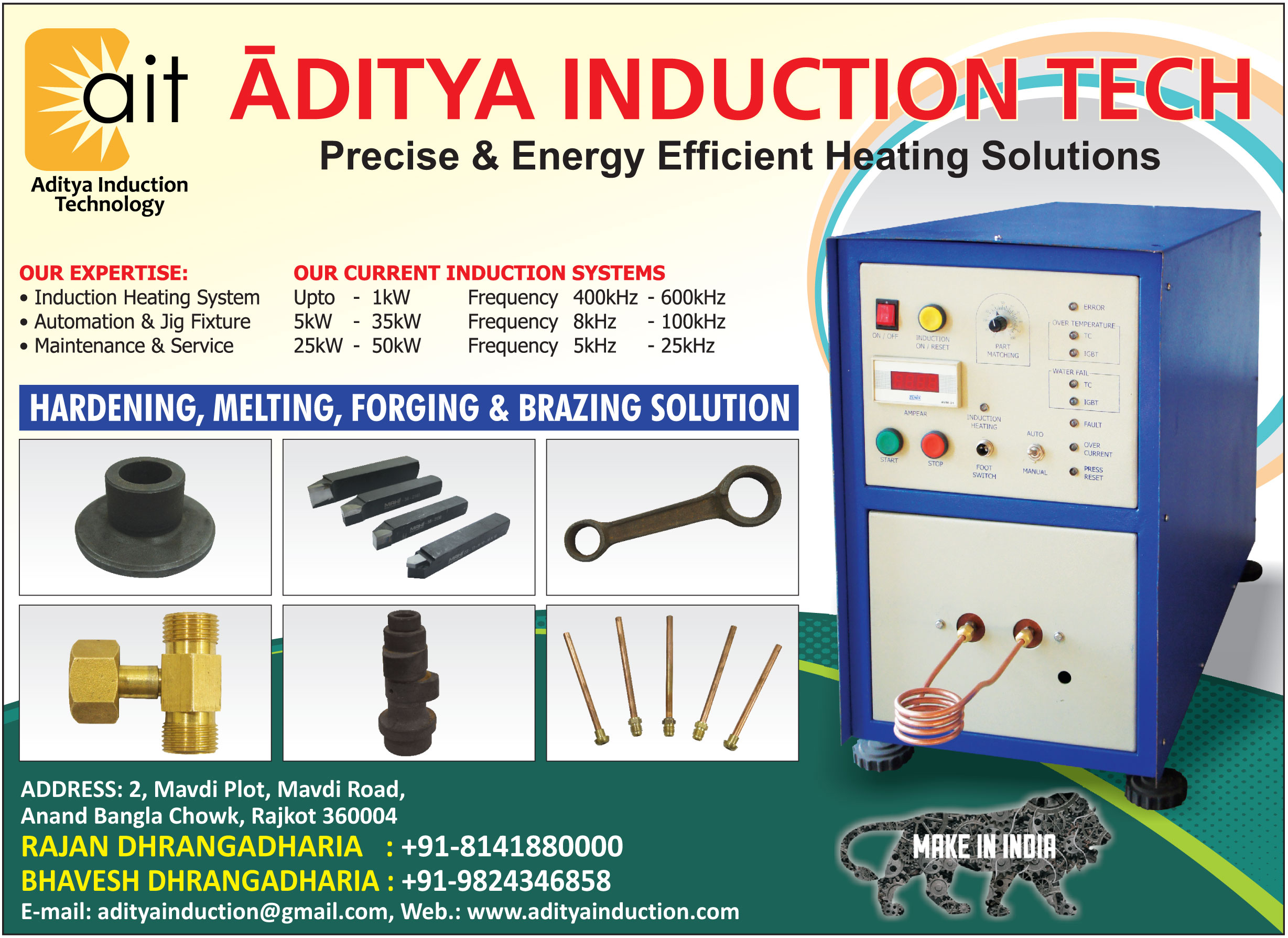 Induction Heating Systems, Jif Fixtures