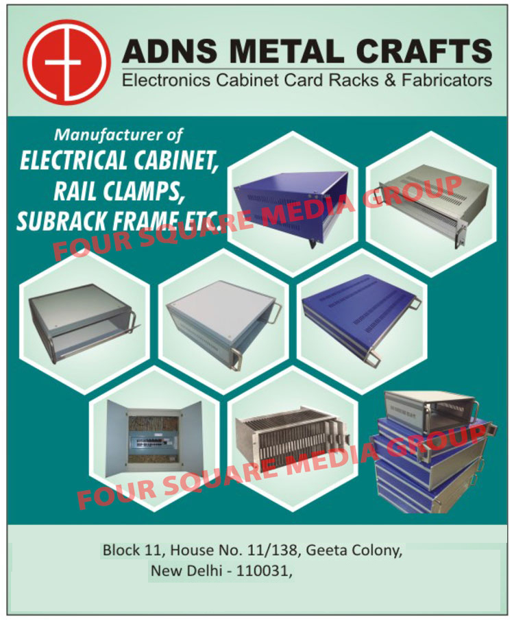 Electronic Cabinet Card Racks, Electronic Cabinet Card Rack Fabricators, Electrical Cabinets, Rail Clamps, Subrack Frame