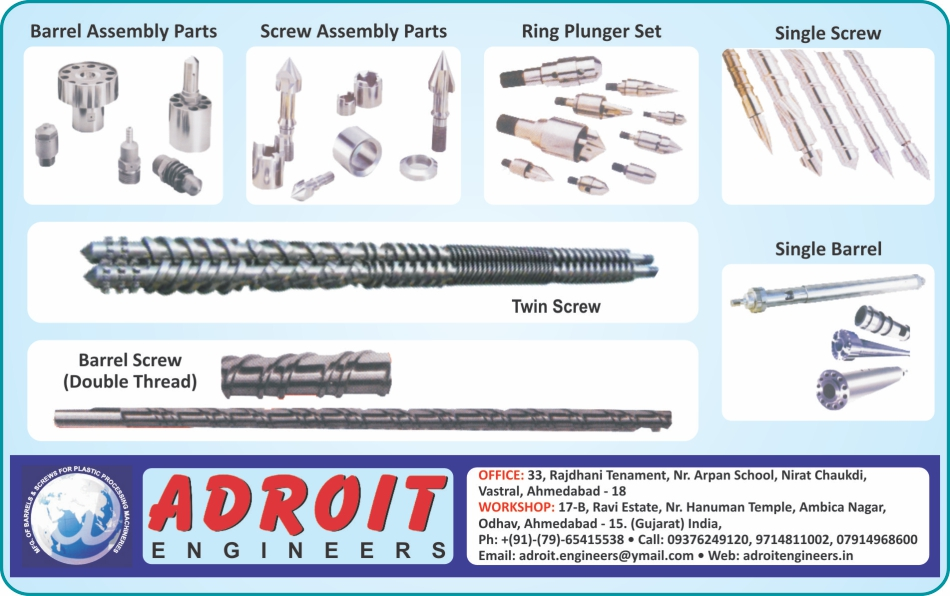 Barrel Assemblies Parts, Screw Assemblies Parts, Ring Plunger Sets, Single Screws, Barrel Screws, Twin Screws, Single Barrels ,Screws, Barrels, Twin Barrels