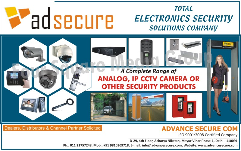 Security Products, CCTV Cameras, Analog CCTV Cameras, IP CCTV Cameras, Road Safety Products, Barriers, Biometric Systems, Access Control Systems, Time Attendence System, Intrusion Alarm Systems, Hand Held Metal Detectors, Door Frame Metal Detectors, Automated Doors