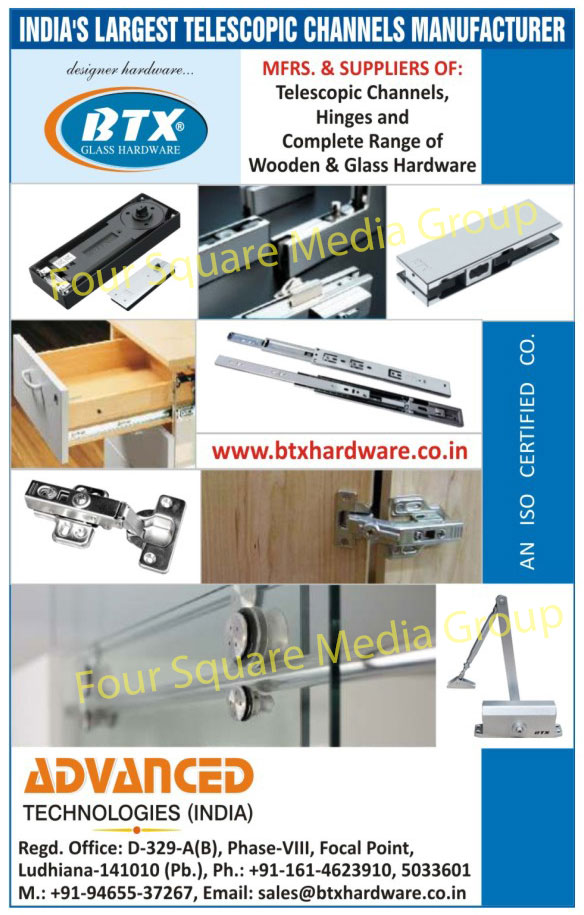 Telescopic Channels, Hinges, Wooden Hardware, Glass Hardware