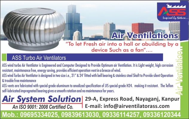 Air Ventilators, Turbo Air Ventilators