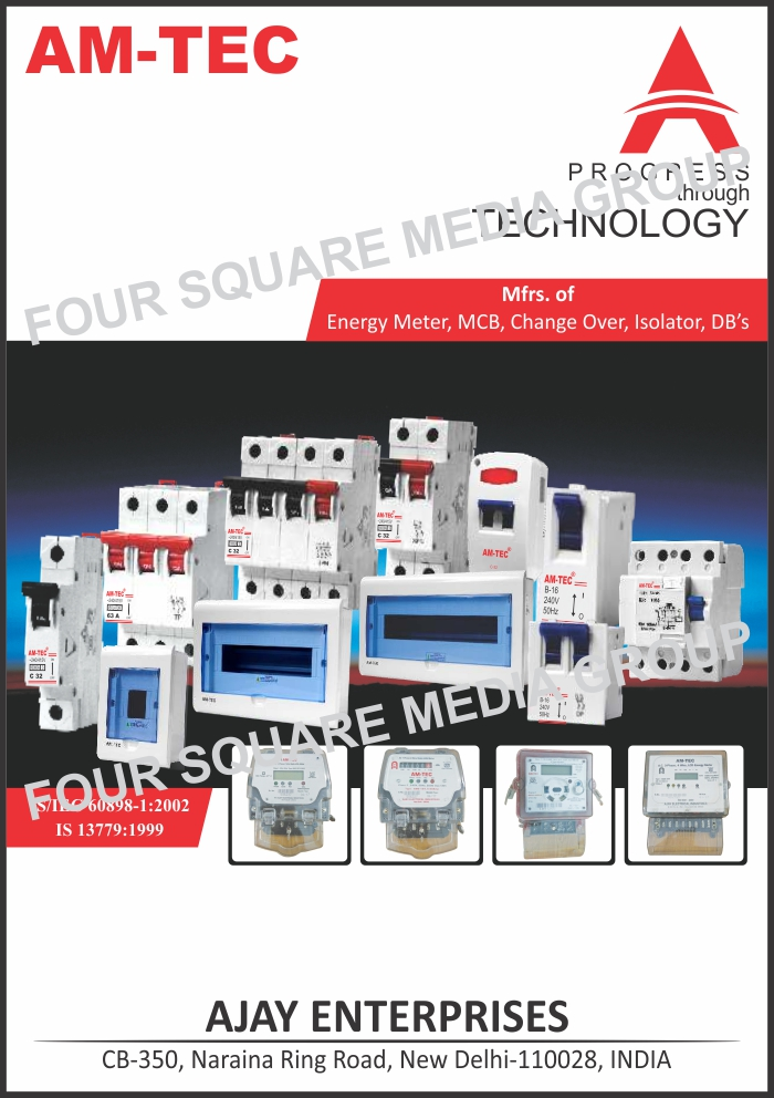 Energy Meters, MCB, Change Over Switches, Isolators, DBs, Miniature Circuit Breakers