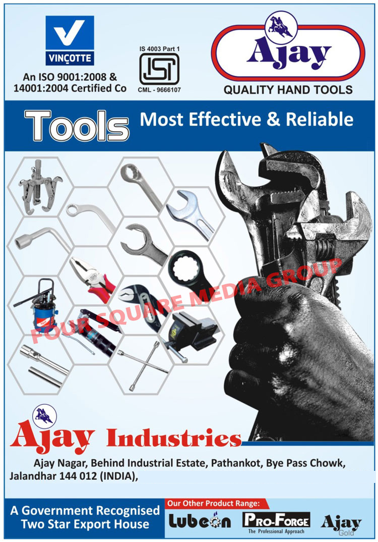 Hand Tools, Spanners, Automotive Tools, Plumbing Tools, Pincers, Pliers, Wood Working Tools, Vices