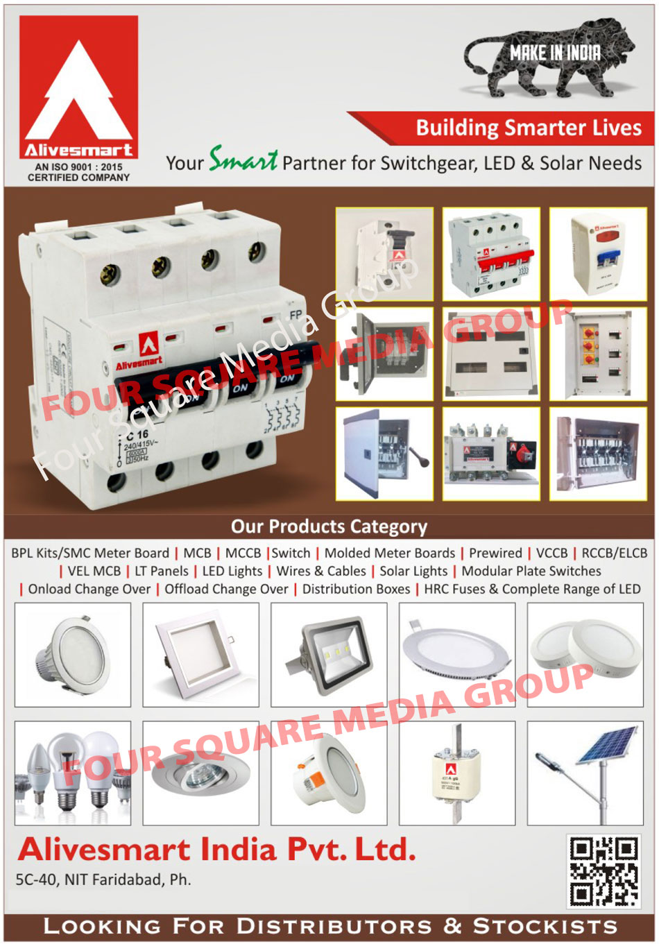 BPL Kits, SMC Meter Boards, MCB, MCCB, Switches, Molded Meter Boards, Prewired, VCCB, RCCB, ELCB, VEL MCB, LT Panels, Led Lights, Wires, Cables, Solar Lights, Modular Plate Switches, Onload Change Over, Distribution Boxes, HRC Fuses, Switchgears