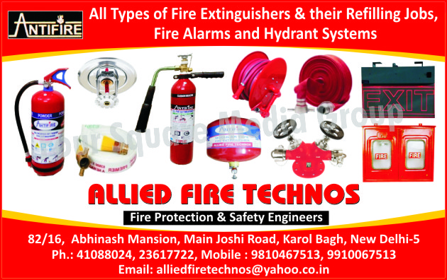 Fire Extinguishers, Fire Extinguisher Refilling, Fire Alarms, Hydrant Systems, Fire Safety Products