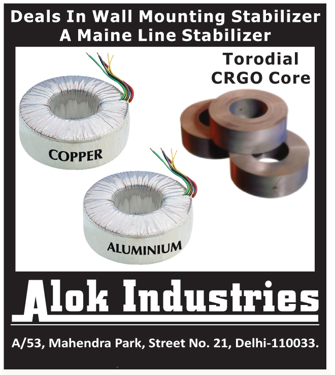 Wall Mounting Stabilizers, Toroidal CRGO Cores,Notching, Strips, Toroidal Cores, Power Transformers, CRGO Core Laminations, Street Lights, Core Lamination, Current Transformer, Aluminum Core, Copper Core