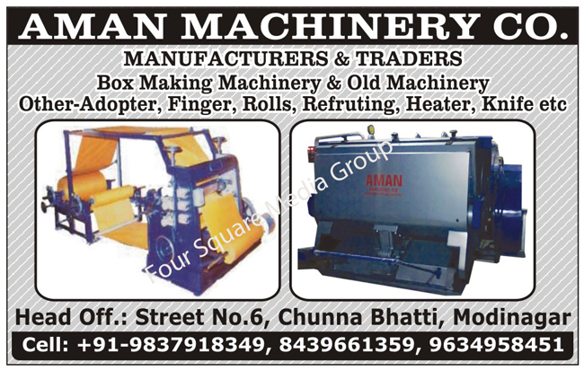 Box Making Machines, Old Box Making Machines, Second Hand Box Making Machines, Used Box Making Machines, Box Making Machine Spare Parts
