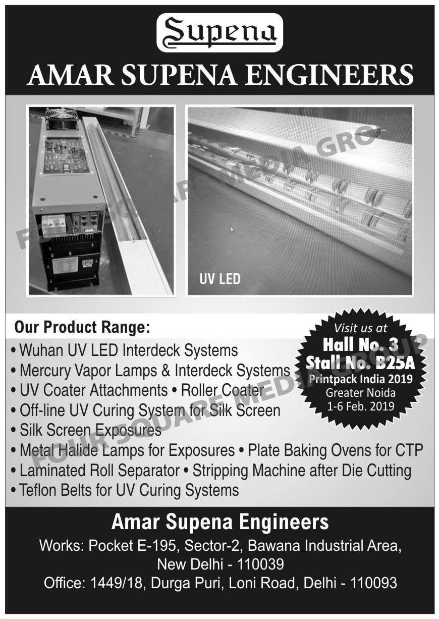 Sheet Fed Auto Coaters, UV Curing Machines, Metal Halide Exposures, Plate Baking Ovens, PS Plate Checking Tables, Drawer Cabinets For Films, Drawer Cabinets For Layout Sheets, Photo Polymer Plate Exposure Washout, Photo Polymer Plate Exposure Dryers, Damper Roller Washing Machines, Plate Punches, Register Punches, Plate Developing Sinks, Graining Machines, Retouching Tables, Metal Halide Exposure Instant Starts, Metal Halide Exposure Constant Starts, Offset Plate Processing Equipments, metal Halide Lamps For Curing Systems, UV Lamps For Curing Systems, UV Belts For Curing Systems, Water Cooled Inter Deck UV Systems For Online UV Printing,Baking Machine, Curing Machine, Plate Baking Machine, Photo Polymer Exposures, Washout, Dryers, Drawer Cabinets
