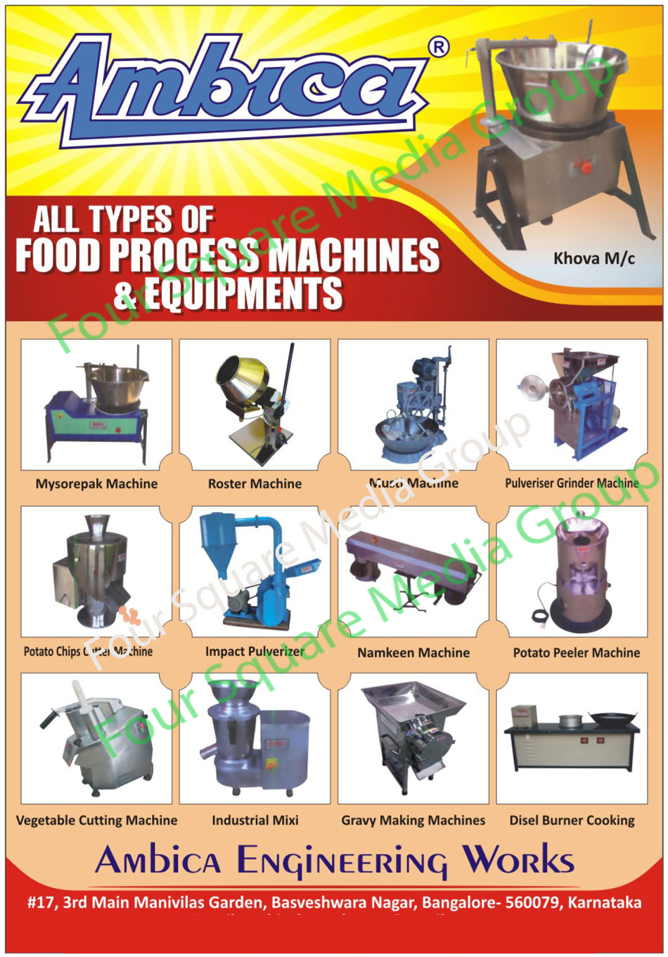 Food Processing Machines, Banana Chips Making Plants, Banana Wafers Making Plants, Potato Chips Making Plants, Potato Wafers Making Plants, Bulk Frying Pan With Automatic Burners, Namkeen Machines, Milk Khoya Machines, Ribbon Blender Sigma Mix, Dry Fruit Cutting Machines, Industrial Mixi, Industrial Grinders, Vegetable Cutting Machines, Industrial Burners, Commercial Burners, Hotwater Boilers, Steam Boilers, Chapati Cutting Machines, Papad Cutting Machines, Chapati Sheeting Machines, Papad Sheeting Machines, Dough Kneading Cum Feeding Machines, Grinder For Food, Pulverizer For Food,Ribbon Blender Sigma Mixi, Mysorepak Machines, Roaster Machines, Musti Machines, Pulveriser Grinder Machines, Pulverizer Grinder Machines, Potato Chips Cutter Machines, Potato Chips Cutting Machines, Potato Wafer Cutter Machines, Potato Wafer Cutting Machines, Impact Pulverizer, Impact Pulveriser, Potato Peeler Machines, Potato Peeling Machines, Gravy Making Machines, Diesel Burner Cooking Range, Khova Machines, Food Processing Equipments