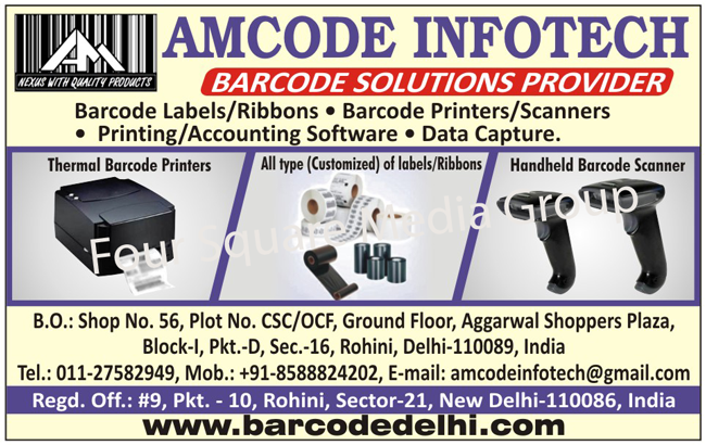Barcode Solutions, Barcode Labels, Barcode Ribbons, Barcode Printers, Barcode Scanners, Printing Softwares, Accounting Softwares, Data Capture, Thermal Barcode Printers, Customised Labels, Customized Labels, Customised Ribbons, Customized Ribbons, Handheld Barcode Scanners