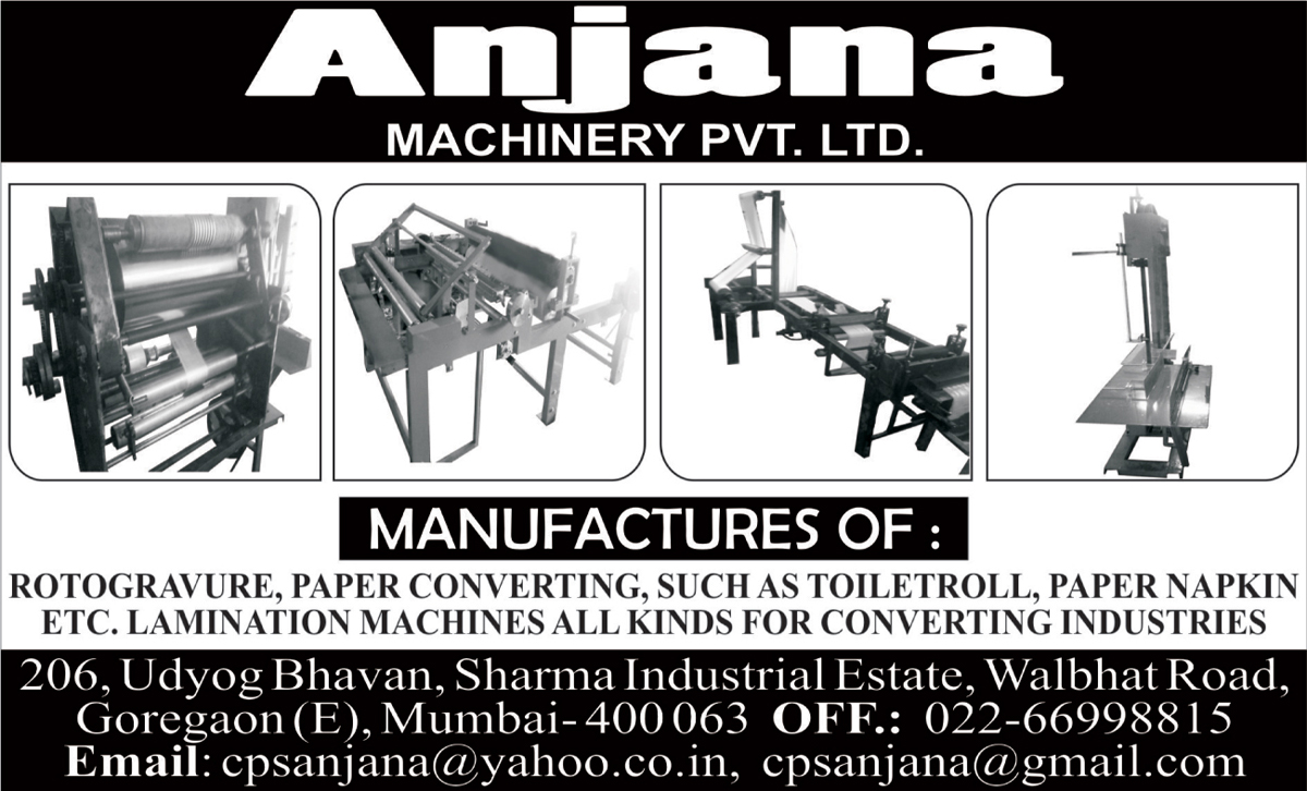 Rotogravure Machines, Paper Converting Machines, Lamination Machines,Printing Machines, Precision Engineered Machines, Slitter Machines, Sheeting Machines, Packaging Machines