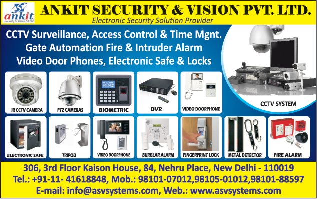 Ir Cctv Camera, Dvr, Digital Video Recorders, Biometric Machines, Ptz Cameras, Electronic Safe, Burglar Alarm, Video Door Phone, Fire Alarm, Cctv Systems, Metal Detector, Fingerprint Lock, Tripod Security System Tripod, Fire Safety Products