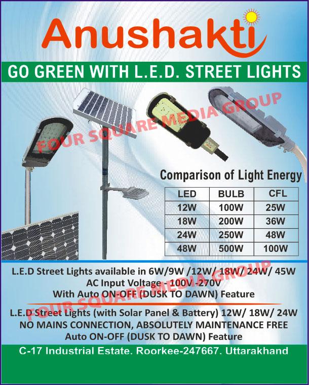 Led Lights, Led Street Lights, Solar Led Street Lights, Led Bulbs
