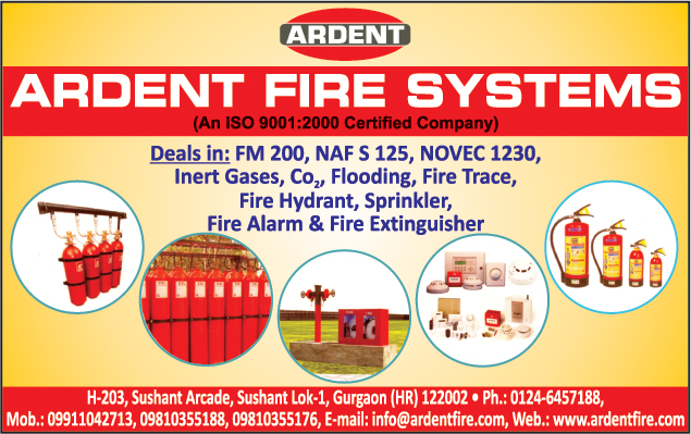 Gas Suppression Systems, Fire Hydrant Systems, Co2 Gas Flooding Systems, Fire Alarm Systems, Fire Sprinkler, Fire Extinguisher, Fire Trace Systems,Fire Fighting Equipments, Hose Reel Systems, Emergency Lights, Gas Leak Detector, Night Glow Signages, Rotary Screw Compressors, Vesda Systems, Fire Safety Products