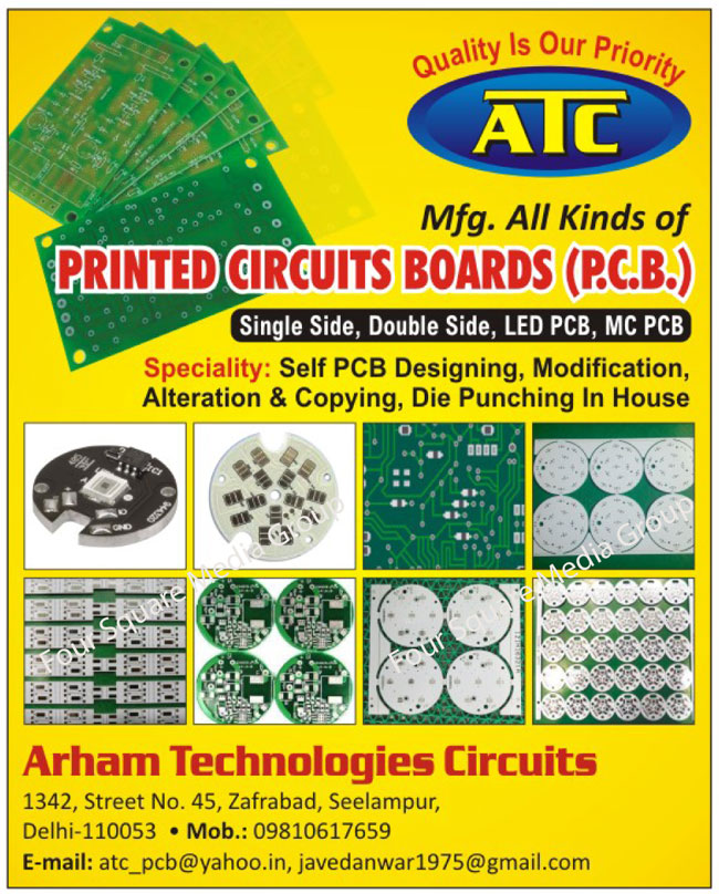 Printed Circuit Boards, PCB, Single Side PCB, Single Side Printed Circuit Boards, Double Side PCB, Double Side Printed Circuit Boards, Led PCB, Led Printed Circuit Boards, MCPCB, Metal Core Printed Circuit Boards, PCB Designing Services, PCB Modification Services, PCB Alteration Services, PCB Copying Services, PCB Die Punching Services