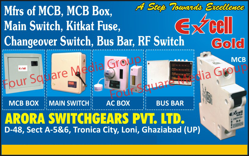 Mcb, Mcb Box, Main Switch, Kitkat Fuse, Changeover Switch, Bus Bar, Rf Switch,