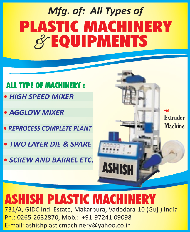 High Speed Mixer, Agglow Mixer, Reprocess Complete Plant, Extruder Machine, Plastic Machinery,Two Layer Die, Spare, Screw, Barrel, Plastic Equipments, Process Complete Plant