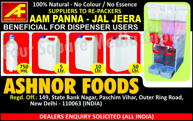 Snacks, Coated Peanuts, Green Peas, Sabudana, Kabuli Chana, Aam Panna Beverages, Jal Jeera Beverages, Aam Panna Beverage Dispensers, Jal Jeera Beverage Dispensers