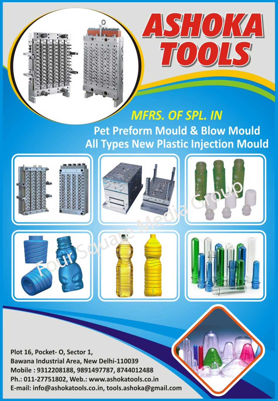 Pet Preform Moulds, Blow Moulds, Pet Preform Molds, Blow Molds, Plastic Injection Moulds, Plastic Injection Molds