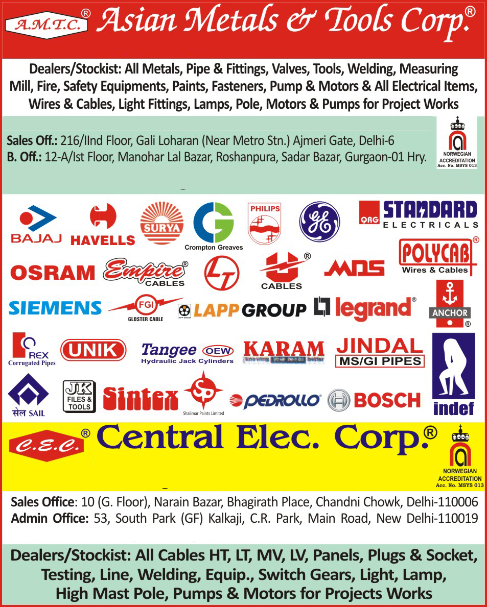 Pipes, Pipe Fittings, Valves, Mechanical Tools, Welding Machines, Measuring Mill, Safety Equipments, Fire Fighting Equipments, Paints, Fasteners, Electrical Pumps, Electrical Motors, Electrical Items, Wires, Cables, Light Fittings, Lamps, Poles, Electrical Motors,Paints, Fasteners, Motors, Safety Products, Fire Fighting Products