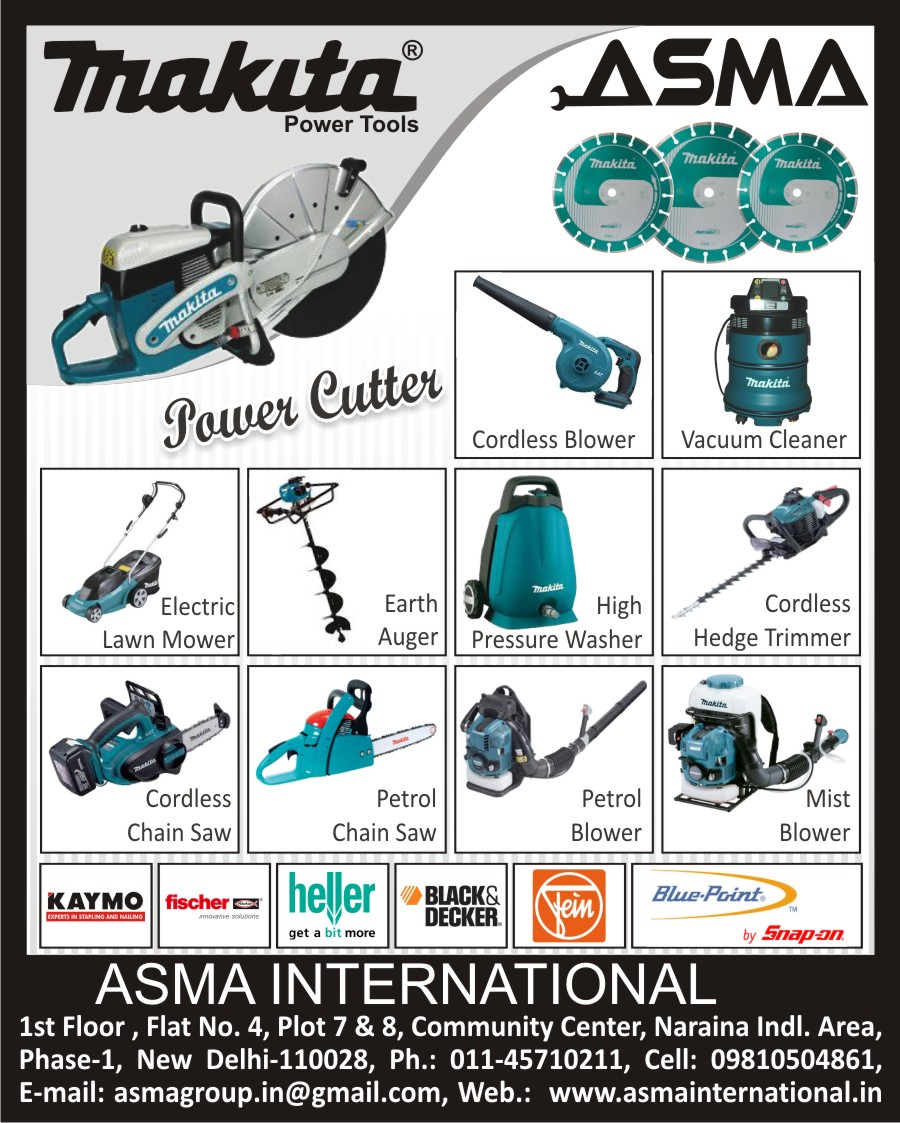Cordless Blowers, Vacuum Cleaners, Electric Lawn Mowers, Earth Augers, High Pressure Washer Machines, Cordless Hedge Trimmers, Mist Blowers, Petrol Blowers, Petrol Chain Saw, Cordless Chain Saw, Power Cutters