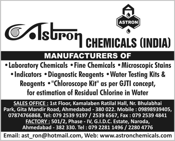 Laboratory Chemicals, Fine Chemicals, Microscopic Stains, Indicators, Diagnostic Reagents, Water Testing Kits, Water Reagents, Chloroscope Kit
