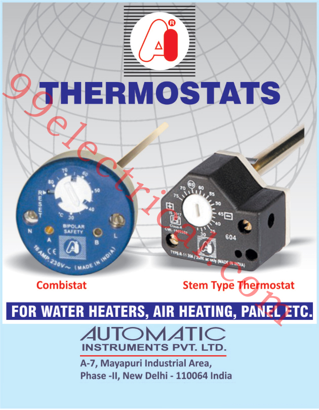 Thermostats, Combistat, Water Heater Thermostats, Stem Type Thermostat, Air Heating Thermostats, Panel Thermostats,Electrical Part, Steam Corn Maker, Urn Spare Parts, Water Boiler Spare Parts, Electrical Components