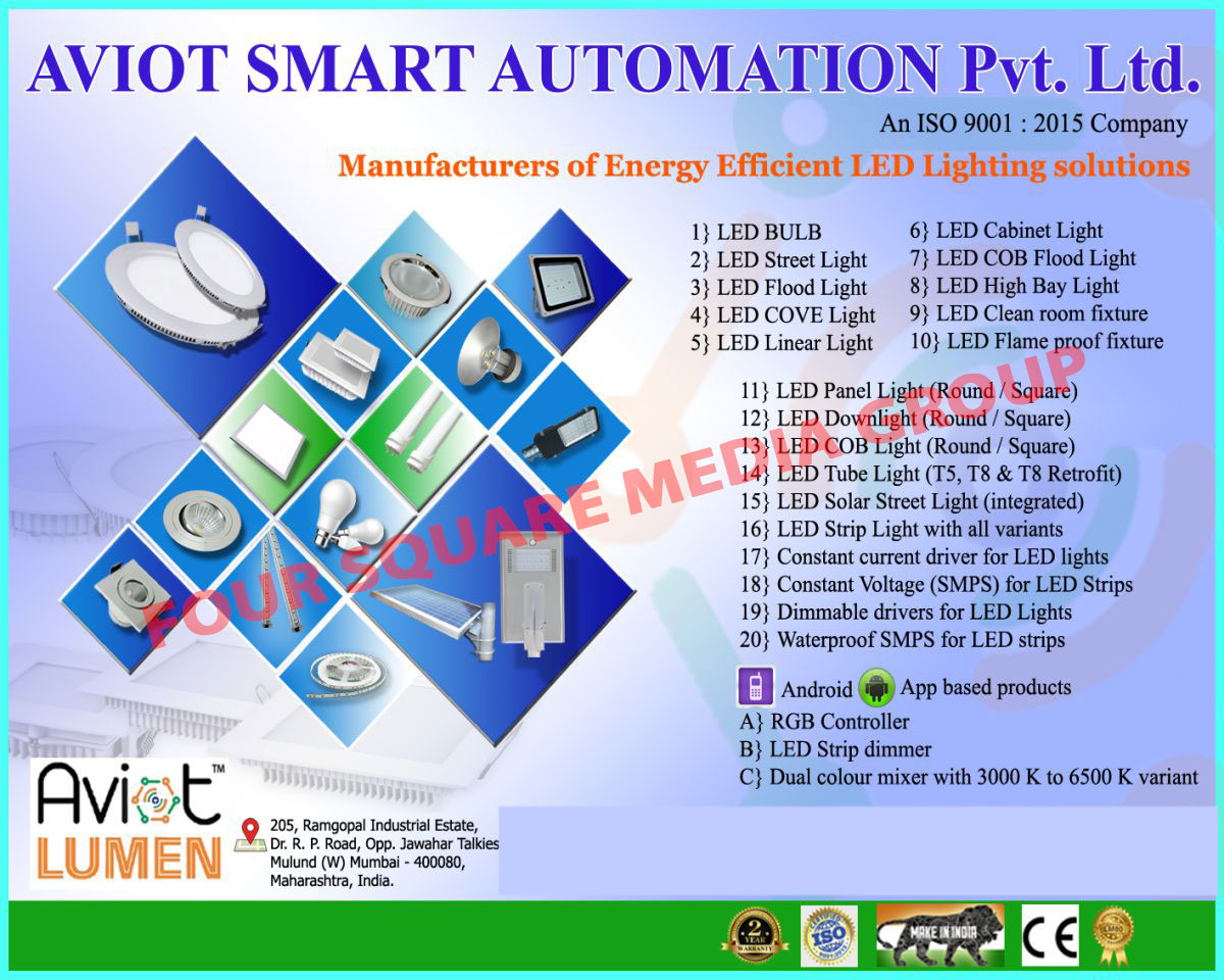 Aviot smart automation pvt ltd mumbai manufacturer of led lights led flood lights led cove lights led linear lights led cabinet lights led cob flood lights led high bay lights led clean room fixtures arubaitofo Image collections