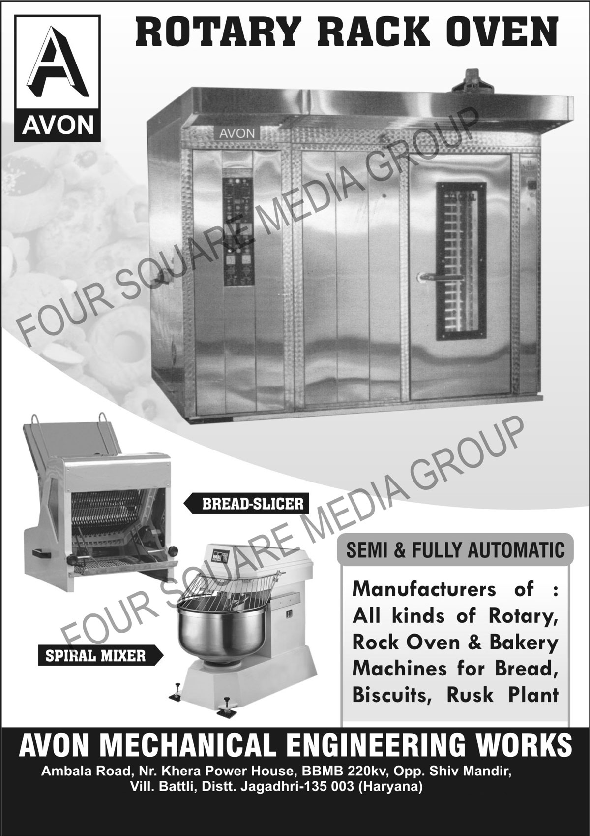 Semi Automatic Rotary Rack Ovens Fully Rusk Plant Machines Avon Mechanical Engineering Works