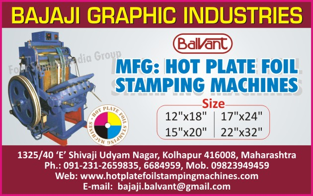 Hot Plate Foil Stamping Machines