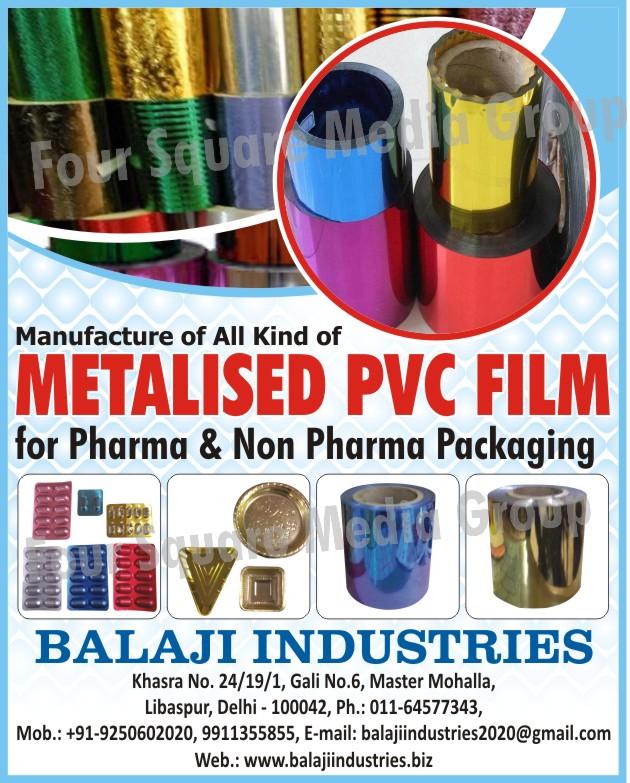 Metallised PVC Films, Metalized PVC Films