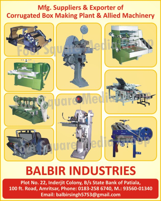 Corrugated Box Making Plants, Corrugated Box Making Machines