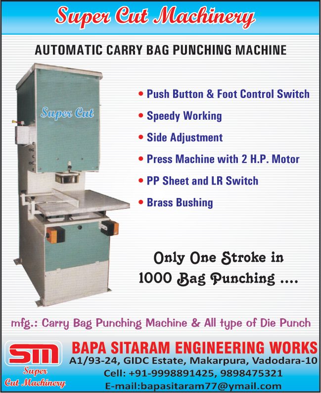 Carry Bag Punching Machines, Die Punches