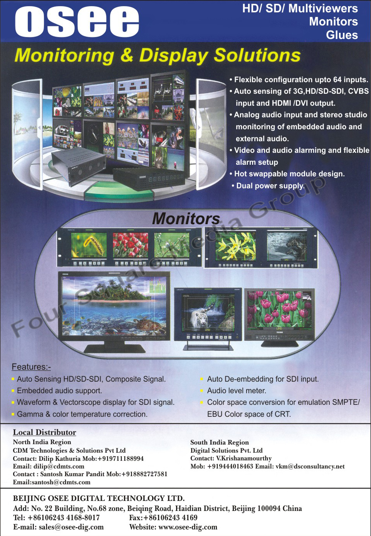 Monitoring Solutions, Display Solutions, Monitors