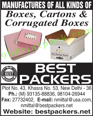 Cardboard Boxes, Cartons, Corrugated Boxes,Boxes, Cartons, Corrugated Boxes, Shipping Cartons, Clipboard Boxes, Bakery Boxes, Jewelery Boxes, Apparel Boxes, Foil Wrap Boxes, Clear Lid Boxes, Photography Boxes, Steel Utensil Boxes, HDPE Laminated, Moving Boxes, Water Proof Paper, Jute Laminated, File Storage Boxes, Pop Up Hat Boxes, Gift Boxes, Silverware Boxes