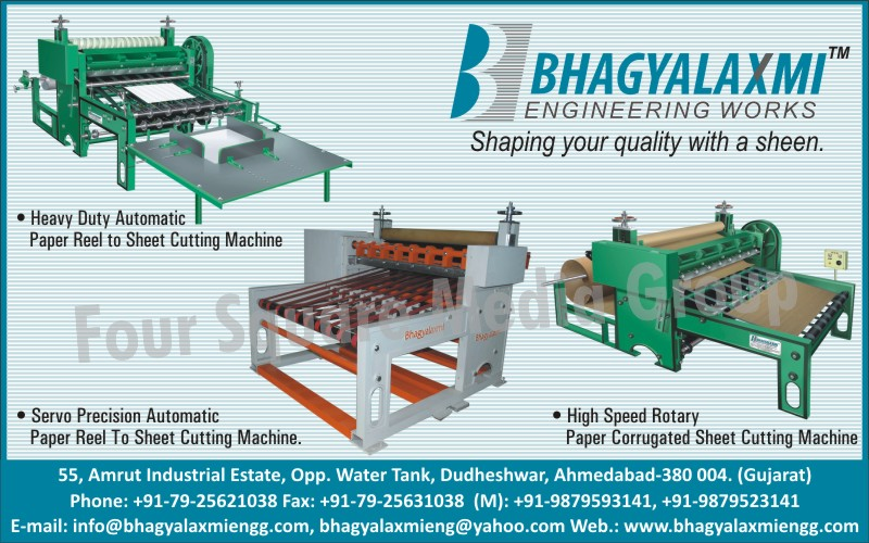 Paper Reel To Sheet Cutting Machines, Servo Precision Automatic Paper Reel to Sheet Cutting Machines, Rotary Paper Corrugated Sheet Cutting Machines