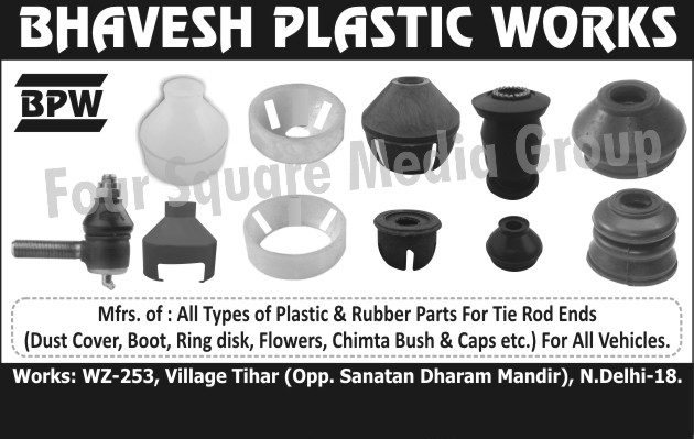 Tie Rod End Plastic Parts, Automotive Flowers, Tie Rod End Rubber Parts, Automotive Dust Covers, Automotive Boots, Automotive Ring Disks, Automotive Chimta Bushes, Automotive Chimta Bush, Automotive Caps,Rubber Parts, Plastic Parts, Plastic Spare Parts, Automotive Rubber Parts, Automotive Plastic Parts